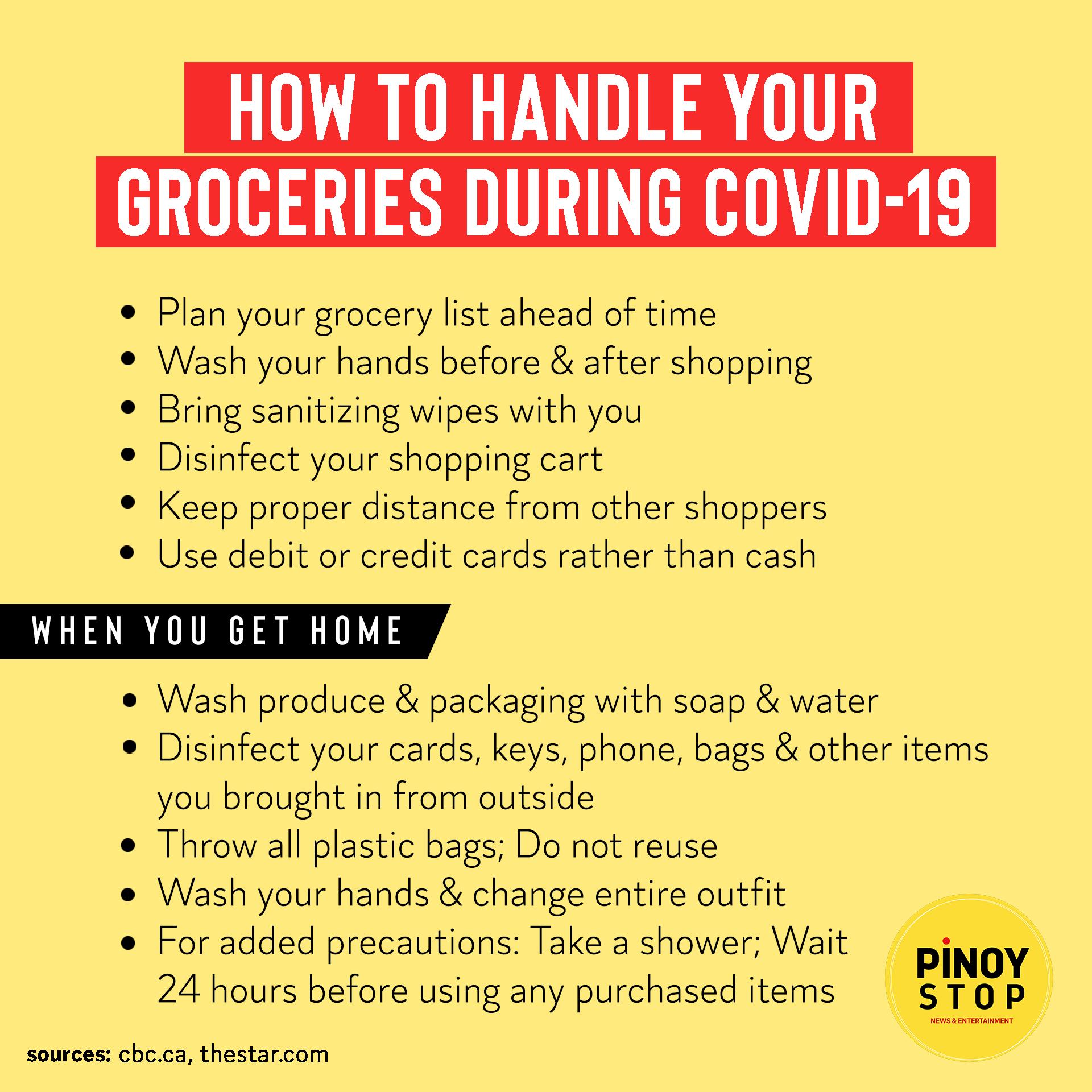 Safe Way Handling Grocery During Covid19 Corona Virus